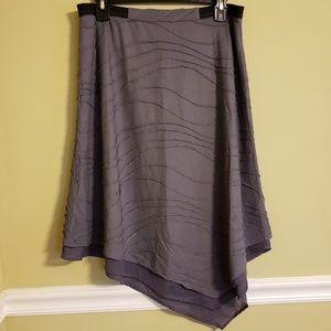 Simply Vera Asymmetrical Soft Gray Skirt